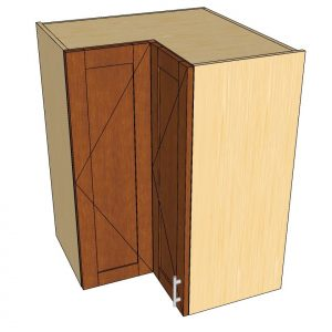angled view 90 degree wall cabinet