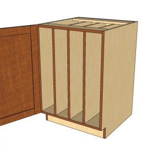 Base 1 door cabinet with tray dividers