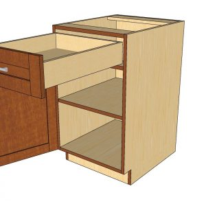 open 1 door 1 drawer cabinet