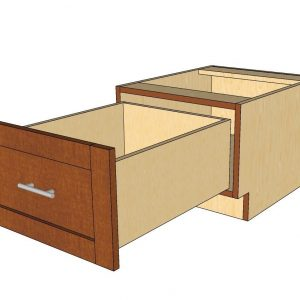 open 1 drawer cabinet