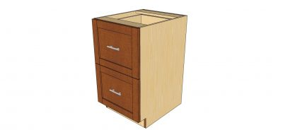 angled view 2 drawer cabinet