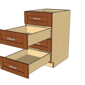 open 4 drawer cabinet