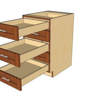 open 5 drawer cabinet