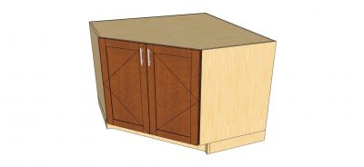 angled view angle 2 door cabinet