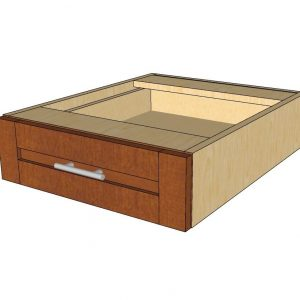 angled view desk drawer cabinet