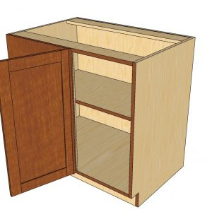 open left blind 1 door cabinet