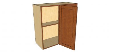 open right blind 1 door wall cabinet