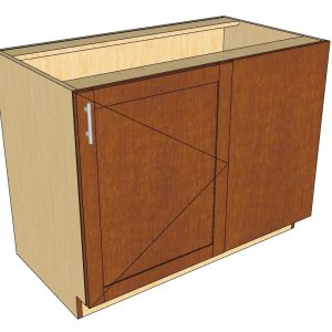 angled view right blind 1 door cabinet