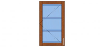 1 door glass wall cabinet