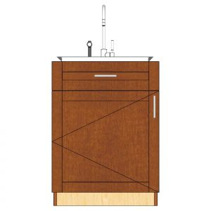 1 door 1 drawer sink cabinet