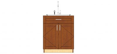 2 door 1 drawer sink cabinet
