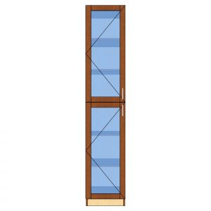 tall glass 1 door cabinet