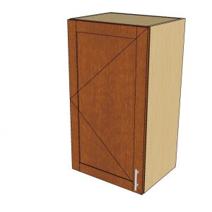 angled view 1 door wall cabinet