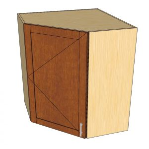 angled view 1 door angled wall cabinet