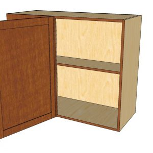 open left blind 1 door wall cabinet